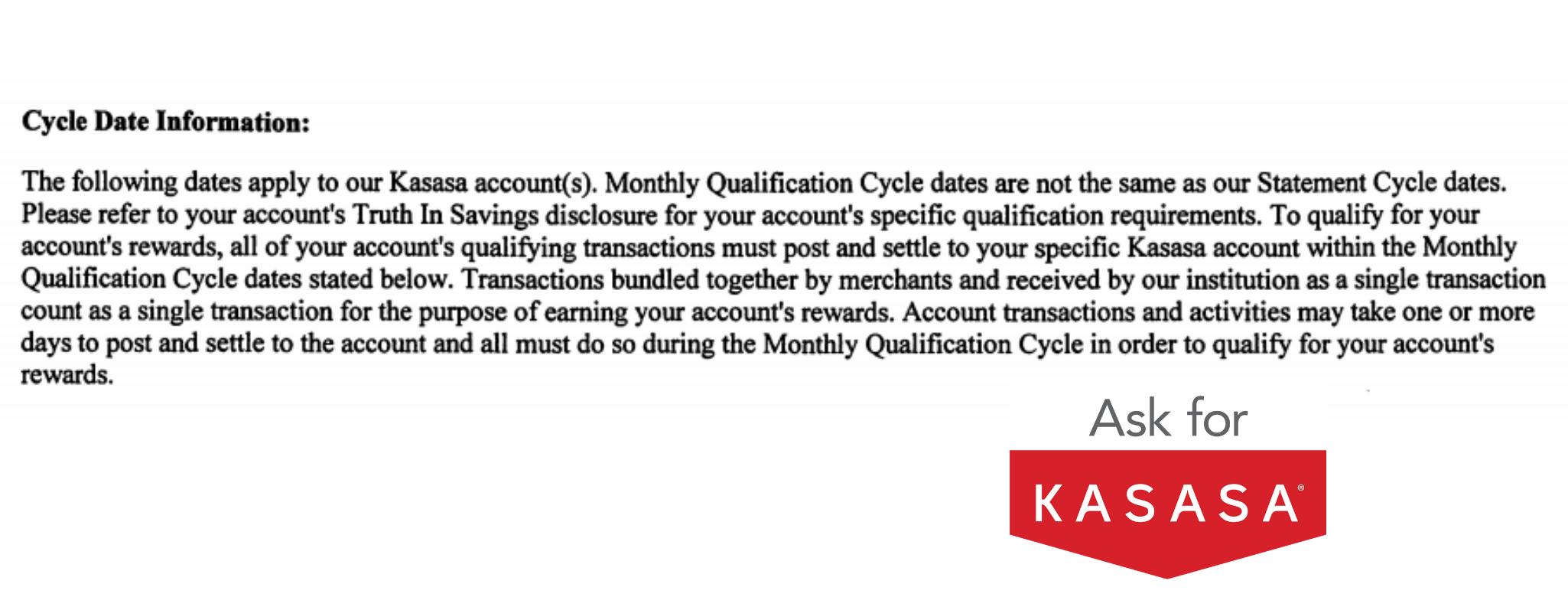 Text image describing the Kasasa Cycle